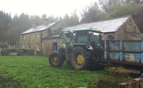 Delivering manure for the garden